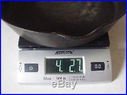 Estate Find Vintage Cast Iron Pan Pre Griswold ERIE #8 704 A Sits Flat