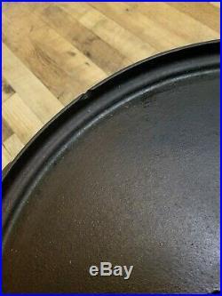 Estate Lodge USA Cast Iron Shallow Camp Dutch Oven Discontinued No. 16 inch