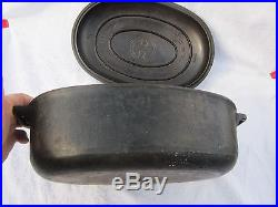 FABULOUS VINTAGE Griswold Cast Iron #5 Dutch Oven Oval Roaster W ORG. TRIVET