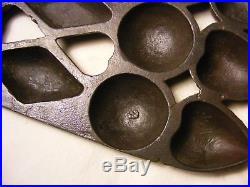 Fairly Rare & Unusual Muffin Pan, 15 cups, cast iron, not griswold