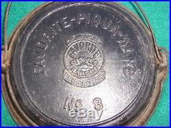 Favorite-Piqua-Ware No. 8 Waffle Iron & Low Base Cast Iron Cookware