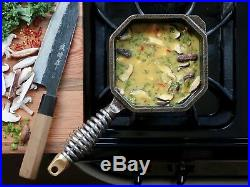 Finex 1 Qt. Heavy-Gauge Cast Iron Cooking Sauce Pan with Spring Handle NEW