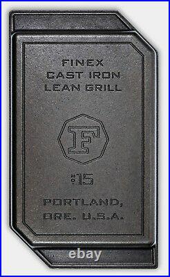Finex Cast Iron 15 Patented Domed Surface Tumble Polished Lean Grill Pan NEW