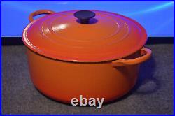 Flame Orange Vintage Le Creuset Dutch Oven E Enamel Cast Iron 4.5 Qt