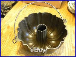 Frank Hay 1891 Rare Griswold Bundt Pan Cast Iron Johnstown PA