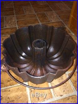 Frank Hay 1891 Rare Griswold Bundt Pan Cast Iron NO RESERVE