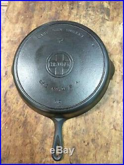 Fully Restored! Griswold #12 Large Block Logo Cast Iron Heat Ring Skillet