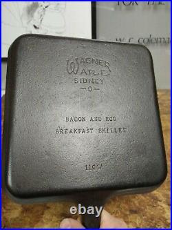 Fully Restored Wagner Ware Bacon and Egg Breakfast Skillet #1101 Seasoned Ready