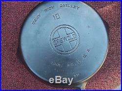 GRISWOLD # 10 CAST IRON SKILLET LARGE BLOCK LOGO pn# 716