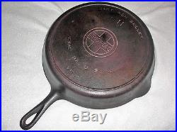 GRISWOLD #11 CAST IRON SKILLET #717 LARGE BLOCK LOGO With HEAT RING