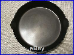 GRISWOLD #11 CAST IRON SKILLET #717 LARGE BLOCK LOGO WithHEAT RING