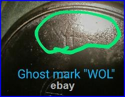 GRISWOLD #11 Cast Iron SkilletSlant Logo, Heat Ring, Ghost Mark PN 717 ERIE