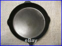 GRISWOLD #12 CAST IRON SKILLET #719 LARGE BLOCK LOGO WithHEAT RING