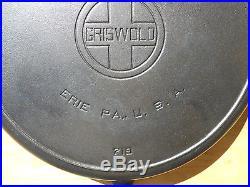 GRISWOLD #12 SKILLET -Large Logo -Heat Ring -Black Cast Iron