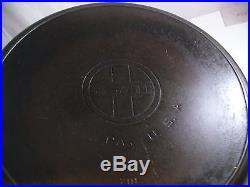 GRISWOLD #14 CAST IRON SKILLET WithHEAT RING LARGE BLOCK LOGO 718 ERIE, PA