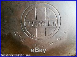 GRISWOLD #14 ERIE PA 718 BIG DADDY CAST IRON SKILLET With HEAT RING & BLOCK LOGO