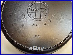 Griswold #14 Large Block Logo Cast Iron Skillet #718 Restored