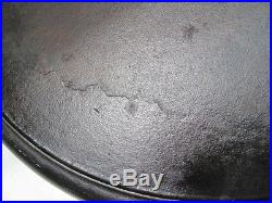 GRISWOLD #20 Hotel 2 Handled Skillet Frying Pan 20 Inch Block Logo Fire Ring