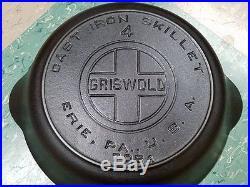 GRISWOLD #4 Large Block Logo Heat Ring skillet (HTF)