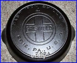 GRISWOLD #4 Large Block Logo Heat Ring skillet (HTF) Cast Iron