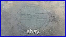 GRISWOLD #8 Medium Block Logo Square Fry Skillet Cast Iron Pan #28 Early Mid-Cen