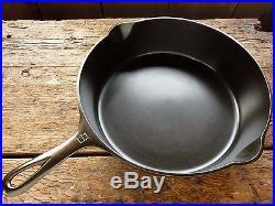 GRISWOLD Cast Iron DEEP SKILLET Frying Pan RESTORED # 9 LARGE LOGO Chicken Fryer