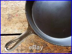 GRISWOLD Cast Iron SKILLET Frying Pan # 10 LARGE BLOCK LOGO Heat Ring RESTORED
