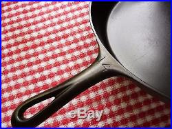 GRISWOLD Cast Iron SKILLET Frying Pan # 14 LARGE BLOCK LOGO Heat Ring RESTORED