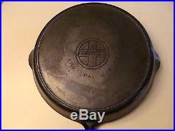GRISWOLD Cast Iron Skillet #14 WITH Lid Cover 474