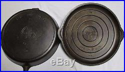 Griswold Erie Pa. 13 Skillet Heat Ring Pin 720 Sits Flat+lid Pin 473 Excellent