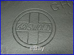 GRISWOLD Griswold's #11 Cast Iron Griddle SLANT LOGO, Rare #2434