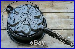 GRISWOLD Heart & Star Waffle Iron NO. 18 (High Base)
