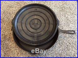 GRISWOLD No. 12 Vintage CAST IRON SKILLET with LID & Heat ring