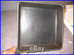 GRISWOLD Square FRY Skillet # 768 & Matching Cast Iron Lid # 769