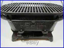 Go8/ Vintage Atlanta Stove Works Sportsman Cast Iron Grill with Fryer & Griddle