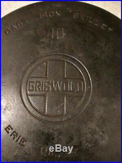 Griswold 10 716 Large Logo Vintage Cast Iron Skillet