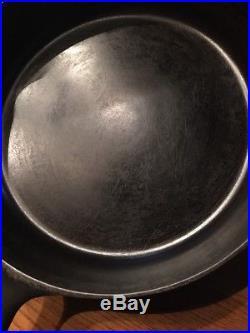 Griswold #10 Slant Erie Large Logo Heat Ring 716 Cast Iron Skillet