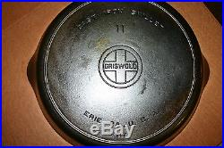 Griswold #11 Block Logo cast iron skillet with Heat Ring. Excellent condition