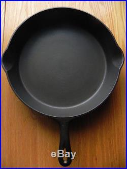 Griswold #11 Cast Iron Skillet Large Block EPU Logo Heat Ring Cleaned & Seasoned