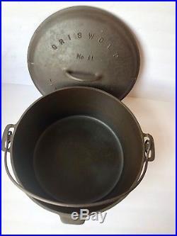 Griswold #11 Dutch Oven Cast Iron Slant Logo Baster Lid 2554 Pot 836 Erie Gift