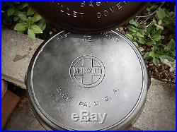 Griswold # 12 Skillet And LID Large Block Logo Fully Marked Cast Iron