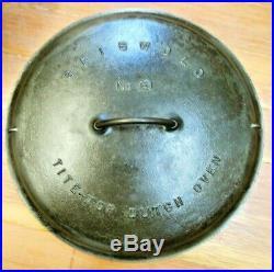Griswold #13 Cast Iron Low Dome Tite Top Dutch Oven Slant Logo A 2637 2635, RARE