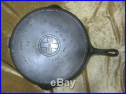 Griswold #14 Cast Iron Skillet #718