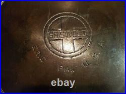 Griswold #14 Cast Iron Skillet 718 Large Block Logo Heat Ring Erie PA