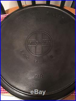 Griswold #14 Skillet, Large Slant Letter Logo, Antique