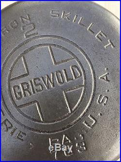 Griswold #2 Cast Iron Skillet 703 Large Logo RARE