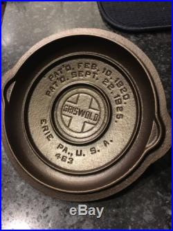 Griswold #3 Low Dome Fully Marked Skillet Lid/Cover Pn#463 Nice! HTF