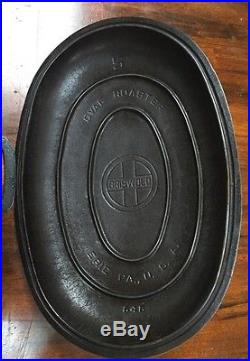 Griswold #5 Dutch Oven Oval Roaster With Fully Marked Lid And Trivet