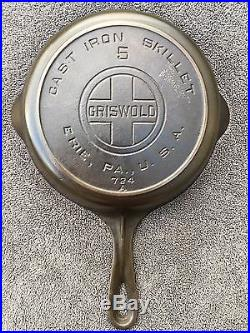 Griswold #5 Skillet Large Logo With Heat Ring