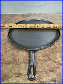 Griswold 609 Cast Iron #9 Small Logo Handle Griddle 10 Restored Flat Seasoned